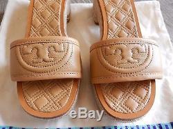$275 NEW TORY BURCH Fleming Low-Heel Espadrille Slide Sandal, Nude 36 US 6 blond