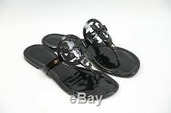 #301 Tory Burch'Miller' Flip Flop Sandals Size 9.5 M $198 retail Black Patent