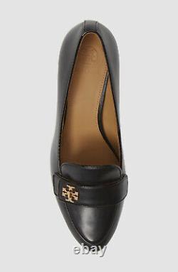 $385 Tory Burch Women's Black Kira Block-Heel Loafer Pumps Sandal Shoes US 9
