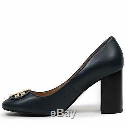 8975-6 Tory Burch Women's Janey 85MM Pump Women's Leather Heel Shoes, 7.5 US