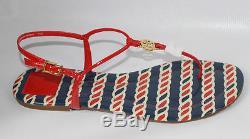 AUTH Tory Burch Women Loberster Emmy Patent Calf Sandal