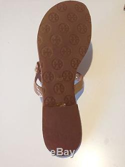 Authentic Designer TORY BURCH Miller Tan Patent Leather Sandal Thong 9.5-As New