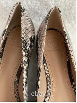 Authentic Tory Burch Leather Ballet Flats Shoe Women's Size 9M Color Snakeskin