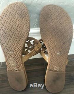 Authentic Tory Burch'Miller' Flip Flop Patent Leather (Women) Sand Sz 8.5