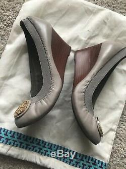 Authentic Tory Burch Reva Wedges Shoes Heels Size 6