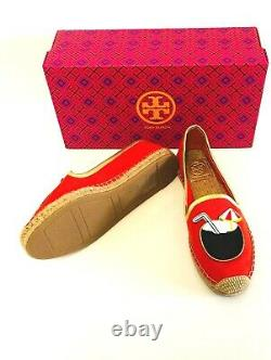 Brand New Tory Burch Coco Espadrille Samba Gold Shoes Flats Size 8.5 Fast Ship