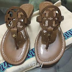 Brand New Tory Burch Miller Sandal Size 10 Sand Patent