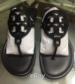 Brand New Tory Burch Miller Sandal Size 6 Black