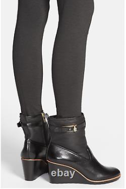 Euc Tory Burch Primrose Wedge Bootie Boots Shoes Leather Size 10