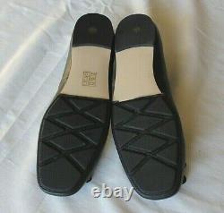 NEW Black Leather TORY BURCH Driving Ballet Flats LAILA Square Toe Shoes sz 8.5