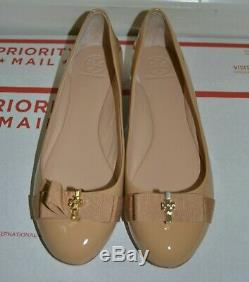 NEW Display Shoes Tory Burch Beige Trudy Ballerina Flats Size 7.5M
