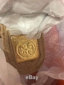 NEW RELEASE Tory Burch Miller Leather Espadrille Gold Sandals