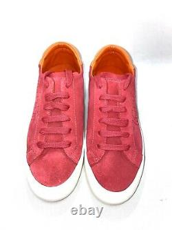 NEW Tory Burch Suede Sneakers Sonia Athletic Shoes Red Pink Sz 8M