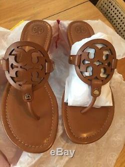 NIB $198 Tory Burch Miller Sandal Size 10 Vintage Vachetta