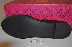 NIB $250+ Tory Burch ALLIE Ballet Flat Shoe Black Sz 9 Heidi REVA Logo