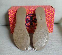 NIB TORY BURCH MINI MILLER Gabriel Flat Thong Sandals Royal Tan Size 9