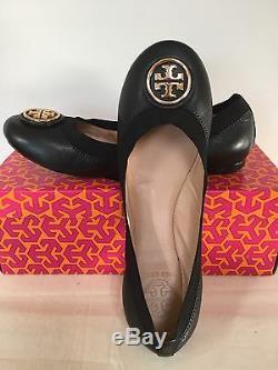 NIB Tory Burch Caroline 2 Ballet Flats, Black, Size 6.5, 7, 7.5, 8