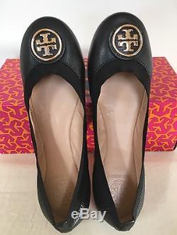 NIB Tory Burch Caroline 2 Ballet Flats, Black, Size 6, 6.5, 7, 7.5, 8, 8.5, 9,9.5