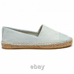 NIB Tory Burch Color Block Flat Espadrilles Loafers Shoes SELTZER 8 M