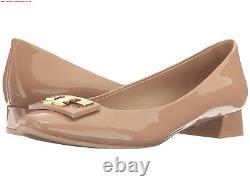 NIB Tory Burch Gigi Logo 25mm Pump Shoes Beige 7 M Runs big