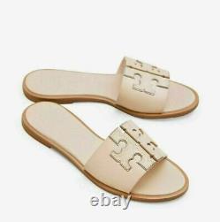 NIB Tory Burch Ines Slide Sandals Shoes SEASHELL SEA SHELL PINK 11 M