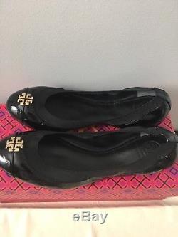 NIB Tory Burch Jolie Ballet Flats, Black, Size 7.5, 8, 8.5, 9