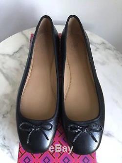 NIB Tory Burch Laila 2 Driver Bow Ballet Flats Black 6 6.5 7 7.5 8 8.5 9 minnie