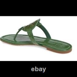 NIB Tory Burch Miller Flip Flop Sandals Shoes ARUGULA GREEN