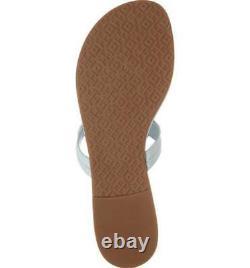 NIB Tory Burch Miller Flip Flop Sandals Shoes SELTZER LIGHT BLUE GREEN 12 M