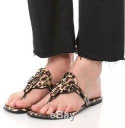 NIB Tory Burch Miller Leopard Sandals SIZE Us 13 Rare Womens Designer Shoes