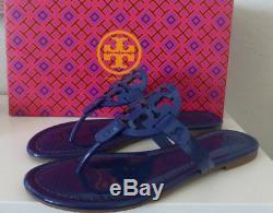 NIB Tory Burch Miller Sandal Bright Indigo Blue Size 10 New In Box #51394