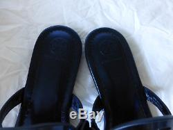 NIB Tory Burch Miller Sandal Petroleo Mirror Metallic Blue Size 7 New In Box