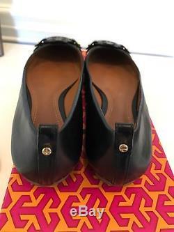 NIB Tory Burch Mini Miller Black Flats Logo Ballet Flats Size 7.5