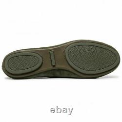 NIB Tory Burch Minnie Travel Ballet Flats Shoes Suede Leccio Green Size 8.5