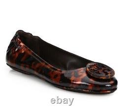 NIB Tory Burch Minnie Travel Ballet Shoes Travel Flats, Size 6.5