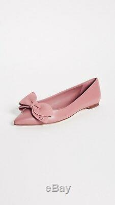 NIB Tory Burch Rosalind Ballet Flat Leather & Suede Pink Magnolia Size 9 $258
