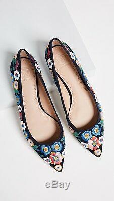NIB Tory Burch Rosemont floral embroidered ballet flat. Size 6.5M