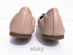 NIB Tory Burch Women's Benton 2 Travel Ballet Nappa Leather Flats Shoes Pink 8