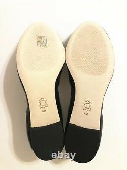 NIB Tory Burch Women's Claire Elastic Ballet Nappa Leather Flats Shoes Black 8