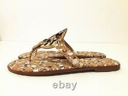 NIB Tory Burch Women's Miller Thong Sandals Shoes Leather New Ivory Size 9