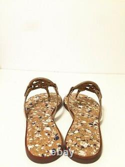 NIB Tory Burch Women's Miller Thong Sandals Shoes Leather New Ivory Size 9.5