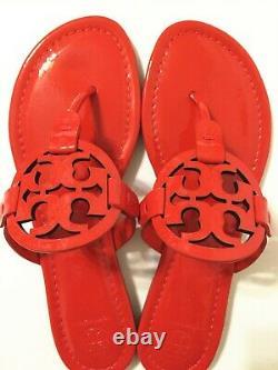 NIB Tory Burch Women's Miller Thong Sandals Shoes Patent Leather Bright Samba 8