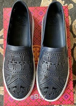 NIB Tory Burch Women's Roselle Slip-On Sneakers Shoes 8.5M Bright Navy