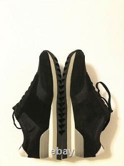 NIB Tory Burch Women's Sawtooth Logo Sneaker Athletic Shoes Black Size 8