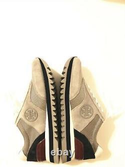 NIB Tory Burch Women's Sawtooth Logo Sneaker Athletic Shoes Nappa Leather 8