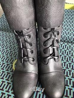 NIB Tory Burch Womens Broome Combat Boots Real Leather Shearling 10 AWESOME