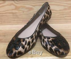 NWB 44466 Tory Burch Natural Leopard Lowell 2 Ballet Flat Printed Haircalf Shoe
