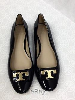 NWB Tory Burch Gigi Patent Leather Ballerina Flat Shoes, # 37078 Black SZ 8.5M