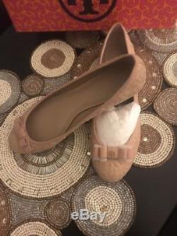 NWT Tory Burch Light Oak Quilted Bryant Ballet Flat. Size 8.5