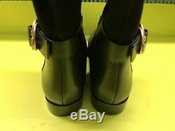 New $578 Tory Burch Marsden Over The Knee Otk Black Leather Logo Boot 9.5